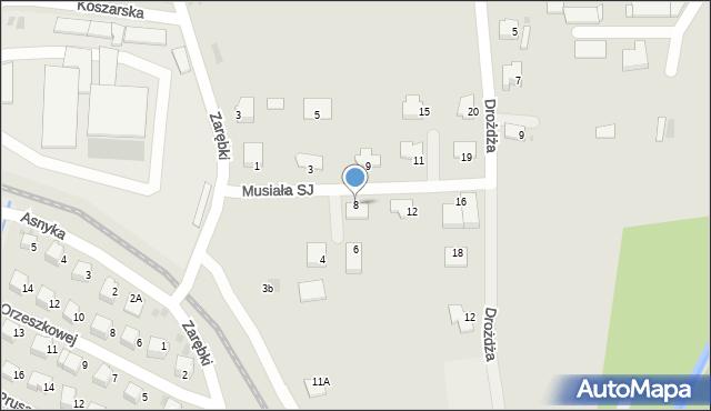 Limanowa, Musiała SJ Stanisława, ks., 8, mapa Limanowa