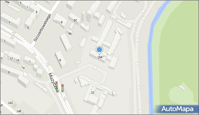 Lublin, Muzyczna, 10A, mapa Lublina
