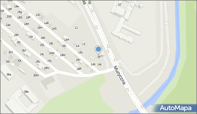 Lublin, Muzyczna, 15, mapa Lublina