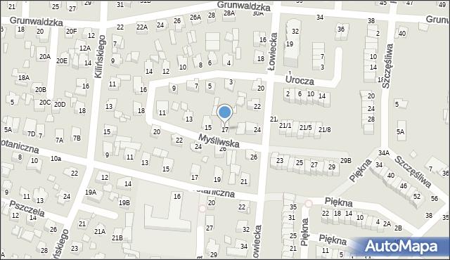 Chełm, Myśliwska, 17, mapa Chełma