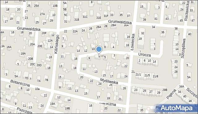 Chełm, Myśliwska, 7, mapa Chełma