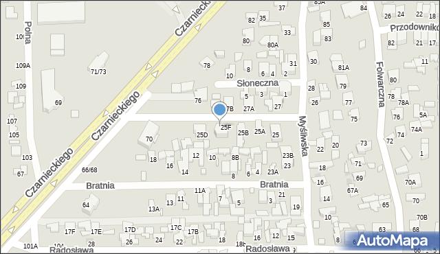 Radom, Myśliwska, 25G, mapa Radomia