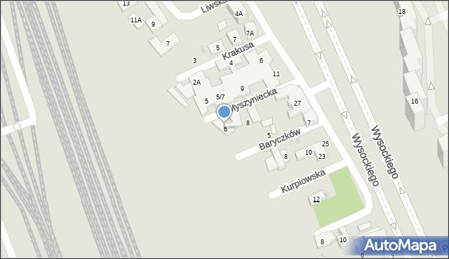 Warszawa, Myszyniecka, 6, mapa Warszawy