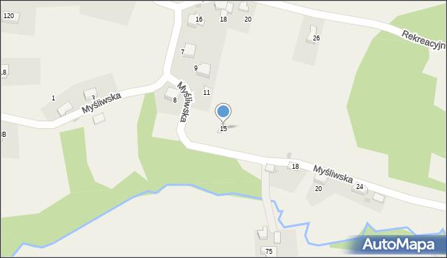 Zagórnik, Myśliwska, 15, mapa Zagórnik