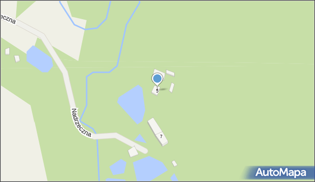 Barłomino, Nadrzeczna, 5, mapa Barłomino