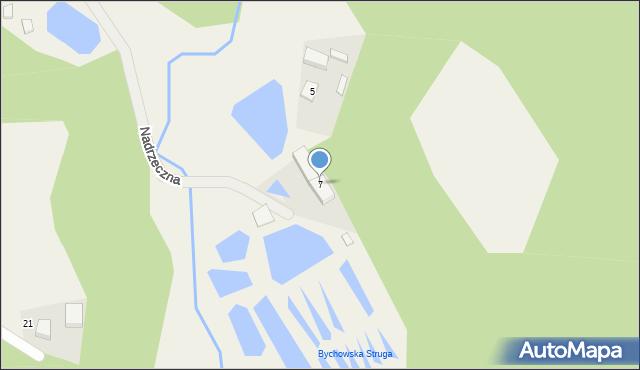 Barłomino, Nadrzeczna, 7, mapa Barłomino