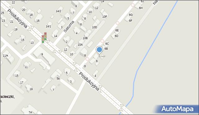 Białystok, Nadrzeczna, 6A, mapa Białegostoku