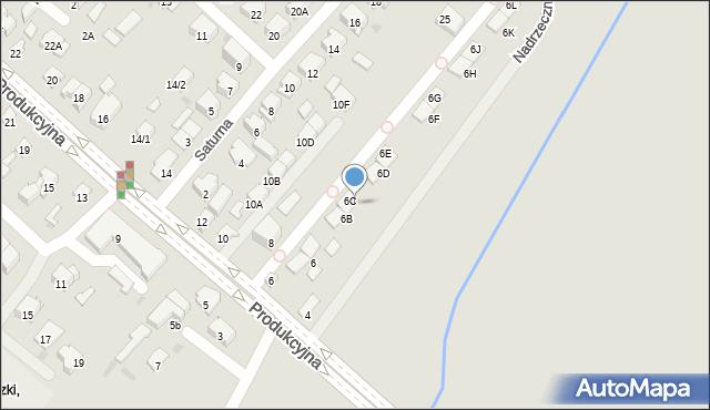 Białystok, Nadrzeczna, 6C, mapa Białegostoku