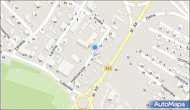 Chełm, Nadrzeczna, 12, mapa Chełma