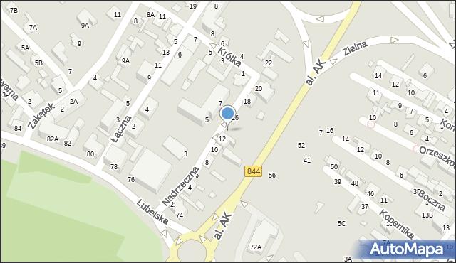 Chełm, Nadrzeczna, 14, mapa Chełma