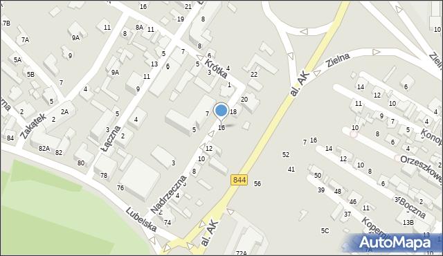Chełm, Nadrzeczna, 16, mapa Chełma