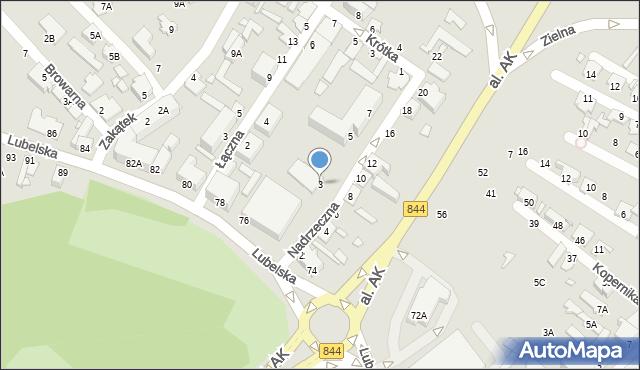 Chełm, Nadrzeczna, 3, mapa Chełma