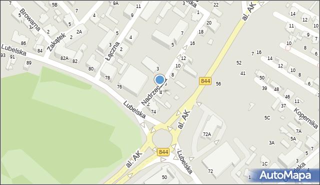 Chełm, Nadrzeczna, 4, mapa Chełma