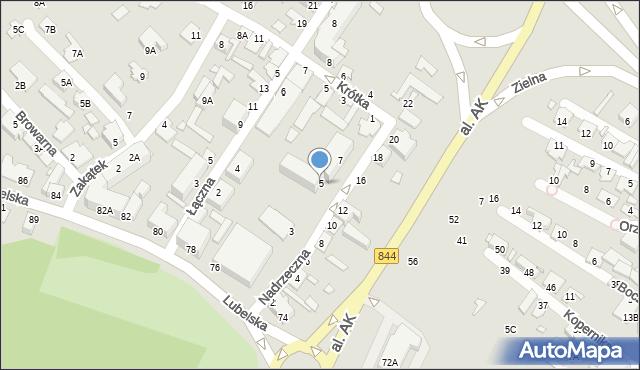 Chełm, Nadrzeczna, 5, mapa Chełma