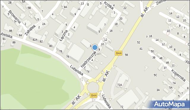 Chełm, Nadrzeczna, 6, mapa Chełma