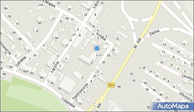 Chełm, Nadrzeczna, 7, mapa Chełma