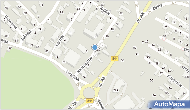 Chełm, Nadrzeczna, 8, mapa Chełma