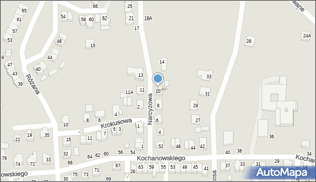 Chełm, Narcyzowa, 10, mapa Chełma