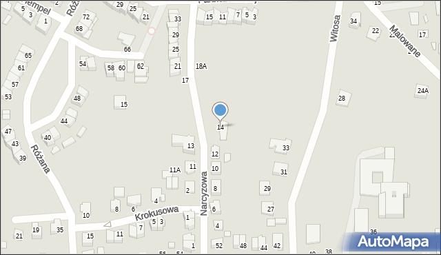Chełm, Narcyzowa, 14, mapa Chełma
