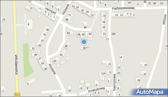 Chełm, Narcyzowa, 15, mapa Chełma