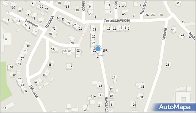 Chełm, Narcyzowa, 17, mapa Chełma