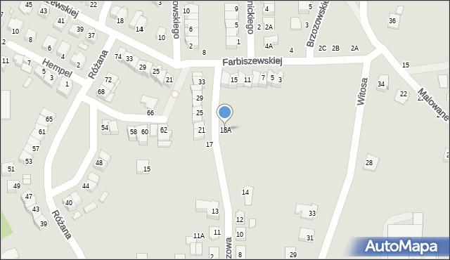 Chełm, Narcyzowa, 18A, mapa Chełma