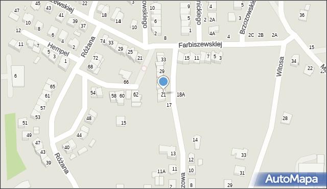 Chełm, Narcyzowa, 21, mapa Chełma