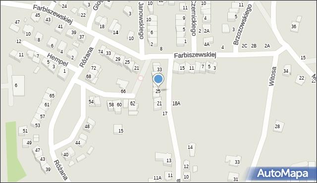 Chełm, Narcyzowa, 25, mapa Chełma