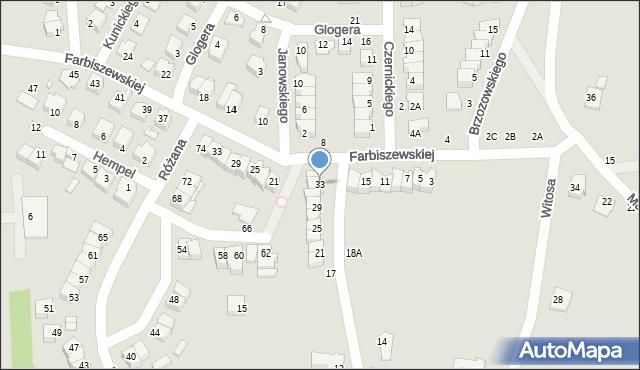 Chełm, Narcyzowa, 33, mapa Chełma