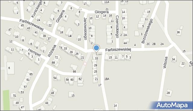 Chełm, Narcyzowa, 35, mapa Chełma