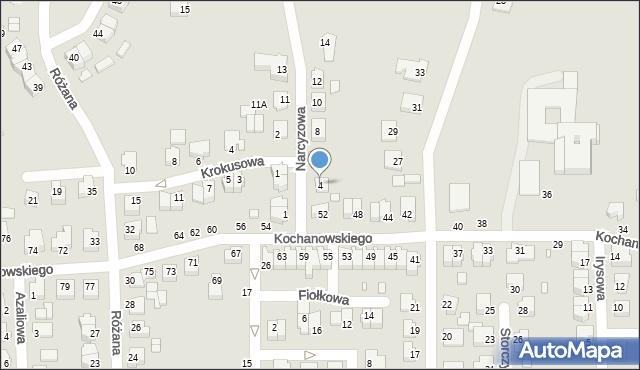 Chełm, Narcyzowa, 4, mapa Chełma