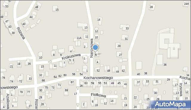 Chełm, Narcyzowa, 6, mapa Chełma