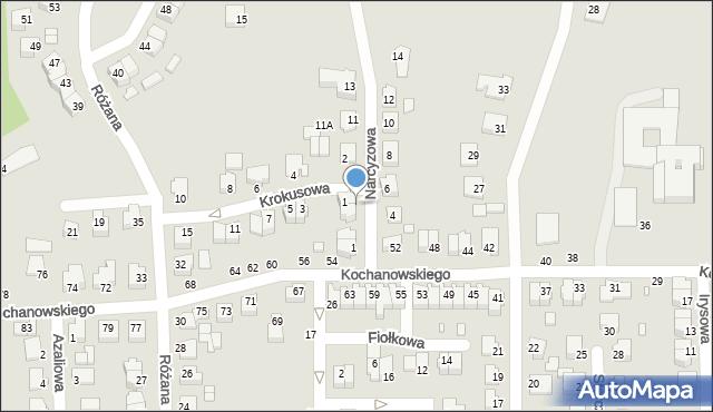 Chełm, Narcyzowa, 7, mapa Chełma
