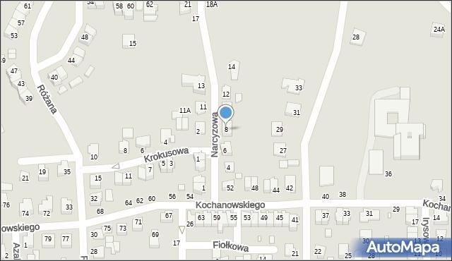 Chełm, Narcyzowa, 8, mapa Chełma