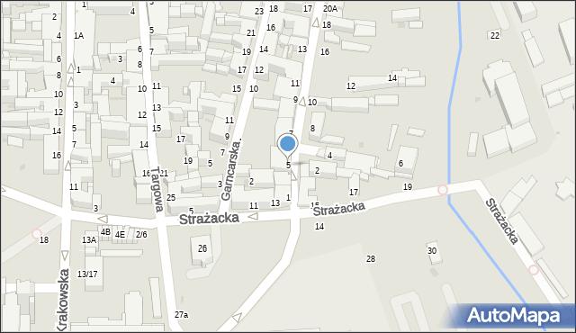 Częstochowa, Nadrzeczna, 5, mapa Częstochowy