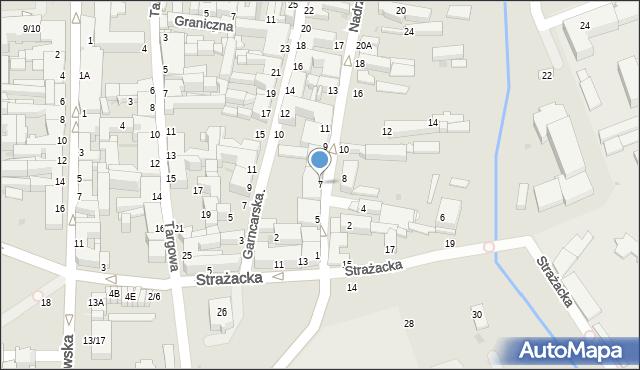 Częstochowa, Nadrzeczna, 7, mapa Częstochowy