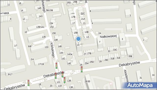 Częstochowa, Nałkowskiej Zofii, 11, mapa Częstochowy
