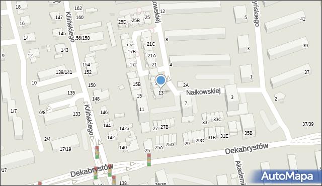 Częstochowa, Nałkowskiej Zofii, 13, mapa Częstochowy