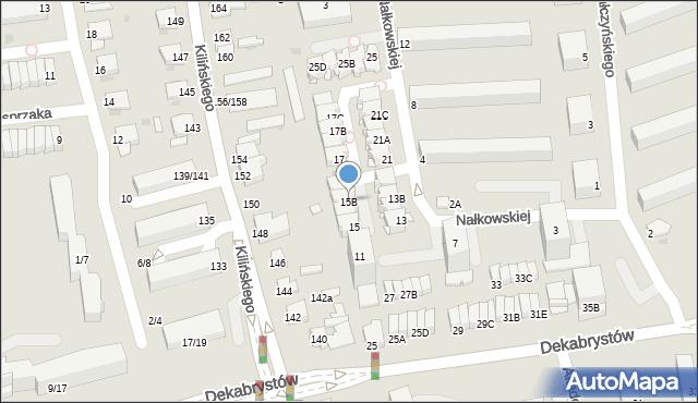 Częstochowa, Nałkowskiej Zofii, 15B, mapa Częstochowy