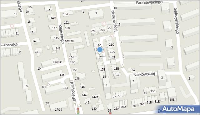 Częstochowa, Nałkowskiej Zofii, 17, mapa Częstochowy