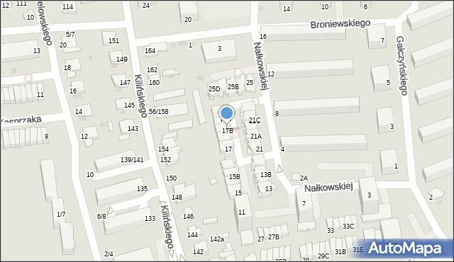 Częstochowa, Nałkowskiej Zofii, 17B, mapa Częstochowy