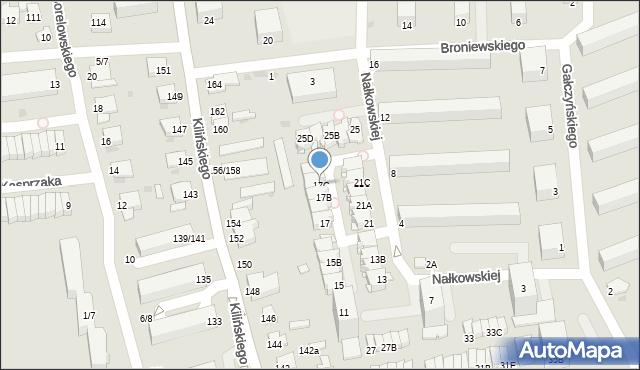 Częstochowa, Nałkowskiej Zofii, 17C, mapa Częstochowy