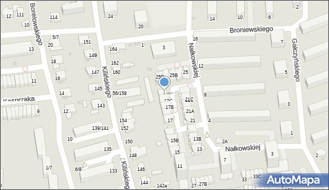 Częstochowa, Nałkowskiej Zofii, 19, mapa Częstochowy
