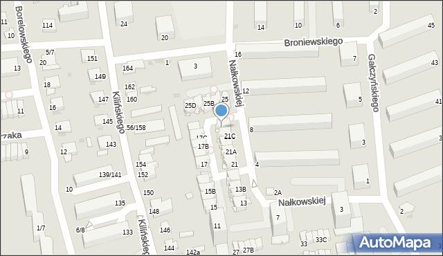 Częstochowa, Nałkowskiej Zofii, 21D, mapa Częstochowy