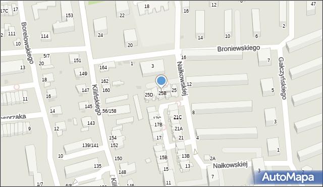 Częstochowa, Nałkowskiej Zofii, 25B, mapa Częstochowy