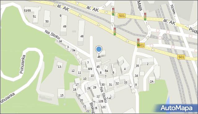 Gdańsk, Na Stoku, 46, mapa Gdańska