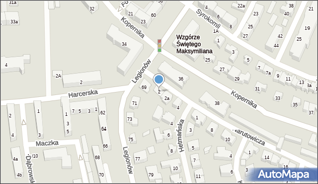 Gdynia, Narutowicza Gabriela, 2, mapa Gdyni