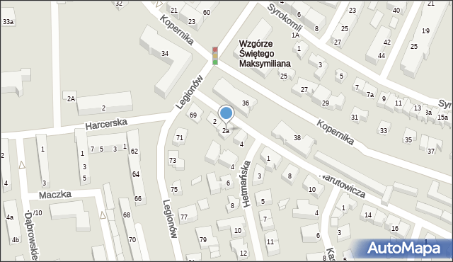 Gdynia, Narutowicza Gabriela, 2a, mapa Gdyni