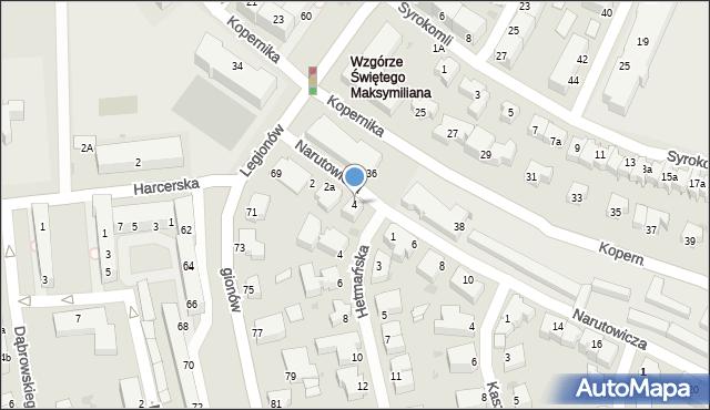 Gdynia, Narutowicza Gabriela, 4, mapa Gdyni