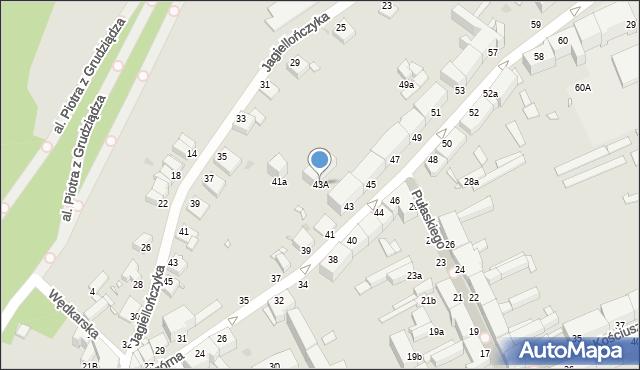 Grudziądz, Nadgórna, 43A, mapa Grudziądza